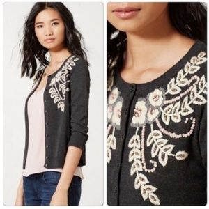 Tabitha Embroidered Fanned Vines Beaded Cardigan
